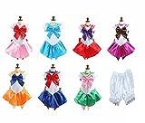 【ELEEJE】 セーラームーン 風 コスプレ 美少女戦士 衣装 セーラー服 ハロウィン コスチューム (M, インナーパンツ)
