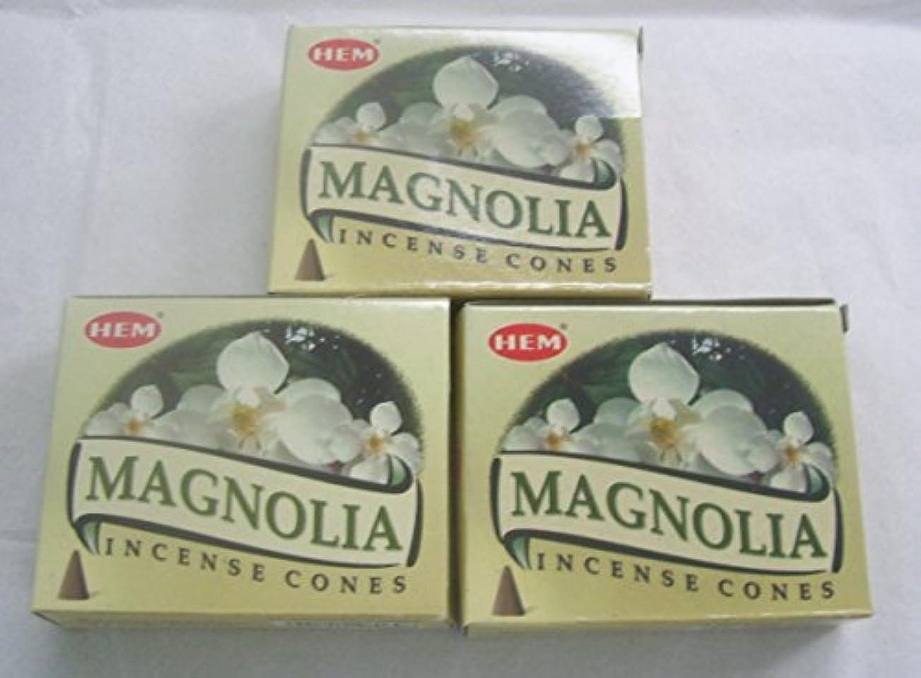 泥沼豊富なラテンHemマグノリア香コーン、3パックの10 Cones = 30 Cones