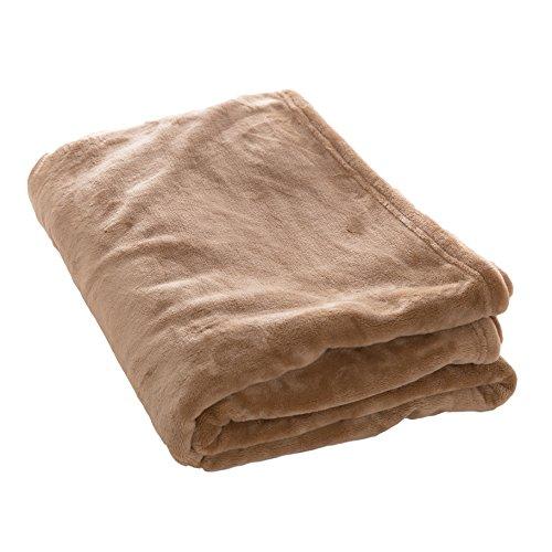 アイリスプラザ 毛布 シングル ブランケット プレミアムマイクロファイバー 洗える 静電気防止 とろけるような肌触り fondan 品質保証書付 モカベージュ 140×200cm