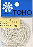 TOHO 丸型パール 外径約3mm 白 約395ヶ入り No.200