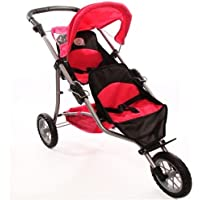 Twin Jogging Stroller for Dolls Fits 18 Inch Dolls by The New York Doll Collection [並行輸入品]