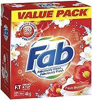 Fab Fresh Blossoms, Laundry Detergent Washing Powder, 4 Kilograms