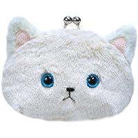ネコのミュー がま口M アイボリー(幅12cmX奥行7cmX高さ8cm) 98854-12