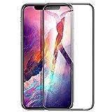 【Humixx】 iPhone Xs ガラスフィルム iPhone Xs 液晶保護フィルム [ 高鮮明 9H硬度 ] [ 全面ガラス フルカバー ] [ 0.3mm薄さ 気泡防止 ] [ フレーム付き ] ( iPhoneXsフィルム , iPhone X フィルム , ブラック )[QL Series]