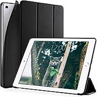 DTTO 新しい iPad 9.7 2018/2017 汎用 ケース 生涯保証 超薄型 超軽量 TPU ソフト スマートカバー 三つ折り スタンド [オート スリープ/スリープ解除] 2017年と2018年発売の 新しい9.7インチ iPad 対応(モデル番号A1822、A1823、A1893、A1954) ブラック