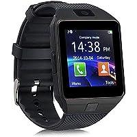 XMONY DZ09 多機能 腕時計 通話対応時計 1.54インチ TFT フルタッチ SIM/TFカード対応 SMS通知 着信通知 活動量計 遠隔音楽 iPhone&Android対応 (ブラック)