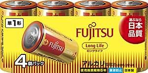 富士通 【Long Life】 アルカリ乾電池 単1形 1.5V 4個パック 日本製 LR20FL(4S)
