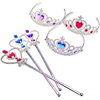 Princess Accessories - Costume Tiara - Kids Tiaras w/Wands by Funny Party Hats [並行輸入品]