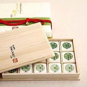 伊藤久右衛門 宇治抹茶 板チョコレート まっちゃ綴り 限定 桐箱 15枚入