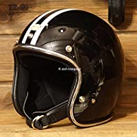 TT&CO. スーパーマグナム 2ラインズ クロームトリム ブラック 乗車用 SG/PSC/DOT規格品 ジェットヘルメット