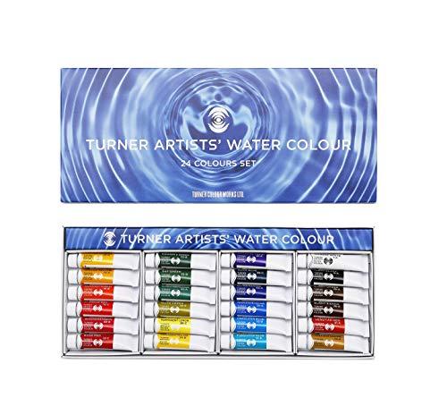 ターナー色彩 専門家用透明水彩絵具 24色セット WT005...