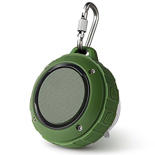 bluetooth スピーカー Lenrue F4 ミニワイヤレススピーカー IP45 防水防塵認証 マイク内蔵 高音質 アウトドアスピーカー TF カード対応/iPhone / iPad/Android /タブレットなどに対応 (緑)