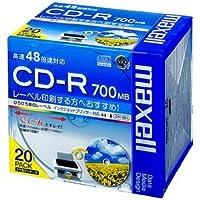 (まとめ) マクセル データ用CD-R 700MB ワイドプリンターブル 5mmスリムケース CDR700S.WP.S1P20S 1パック(20枚) 【×3セット】