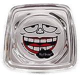 笑ゥせぇるすまんの灰皿(笑うセールスマン)キャラクター灰皿もぐろふくぞうの顔がリアル (赤)