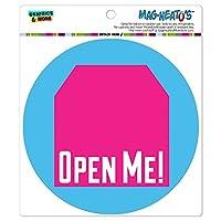 私を開き、タグのデザインピンク誕生日プレゼント - サークル MAG-格好いい'S(TM)カー/冷蔵庫マグネット