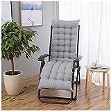 Patio Rocking Chair Cushion, Soft Thick Outdoor Garden Patio Chaise Lounge Cushion,Non-Slip Tatami Sofa Mat, Indoor Outdoor Chaise Lounger Cushion,Gray,50X120cm