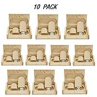 10個入り メープルウッド 2.0/3.0 USBフラッシュドライブ 木製ボックス付き 2.0/128GB ZYMY-01243