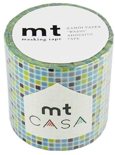 カモ井加工紙 マスキングテープ 50MM幅×10M巻 MTCA5036 タイルブルー