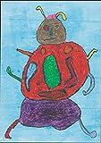 【DXポスター】子供地球基金のアートポスター カブトムシ  インテリア 壁飾り P-A1-KEF-R-11-0000 P-A1-KEF-R-11-0000