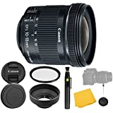Canon EF-S 10-18mm f/4.5-5.6 IS STM Lens + UV Filter + Collapsible Rubber Lens Hood + Lens Cleaning Pen + Lens Cap Keeper + Cl..