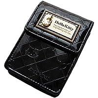 [ハローキティ]HELLO KITTY 財布 合皮エナメル調モノグラム柄リップケース/シガレットケース HK26-5 レディース ブラック