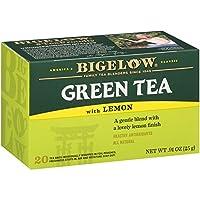 Bigelow Tea 熱いお茶やアイスティーのためのカフェイン入りの個々の緑茶ティーバッグレモンティーバッグとビゲロー緑茶は、20カウントボックス(6パック)、平野を飲むか、ハチミツや砂糖で甘く