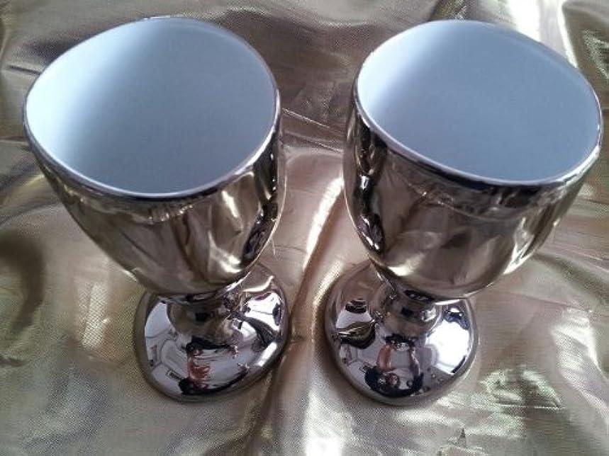 フランス発  Tse&Tse associees  プラチナ カラー グラス 1PC