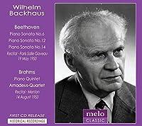 ブラームス:ピアノ五重奏曲、ベートーヴェン:ピアノ・ソナタ第14番『月光』、第12番、第6番 バックハウス、アマデウス四重奏団(1953)