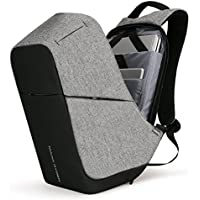Markryden Anti-theft Laptop Backpack Business Bags with USB Charging Port School Travel Pack Fits Under 15.6 Inch Laptop(Gray 2.1)