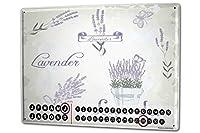 カレンダー Perpetual Calendar Flower Shop Lavender Tin Metal Magnetic