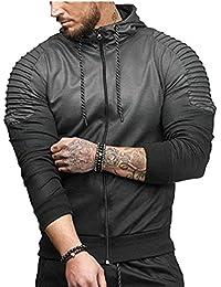 maweisong メンズファッションアクティブジム?トレーニング?フィットネス?ジッパー灰色烏のジャケット