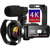 ビデオカメラ 4K YouTubeカメラデジタルビデオカメラ UDR 48MP WIFI機能 18倍デジタルズーム IR…