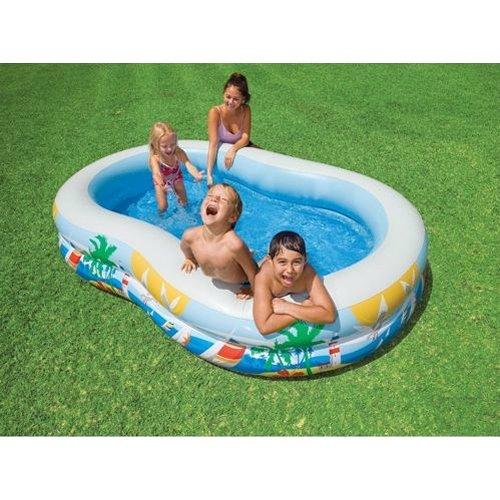 [해외]INTEX 수영장 파라다이스 라군 수영 센터 [병행 수입품]/INTEX Pool Paradise Lagoon · Swim Center [Parallel import goods]