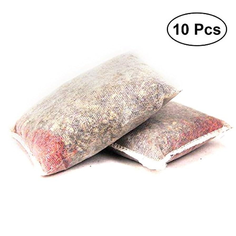 メタリック忌避剤オフセットLurrose 有機ハーブ風呂バッグ漢方風呂ポーチフットバススージングヘルスケア10ピース