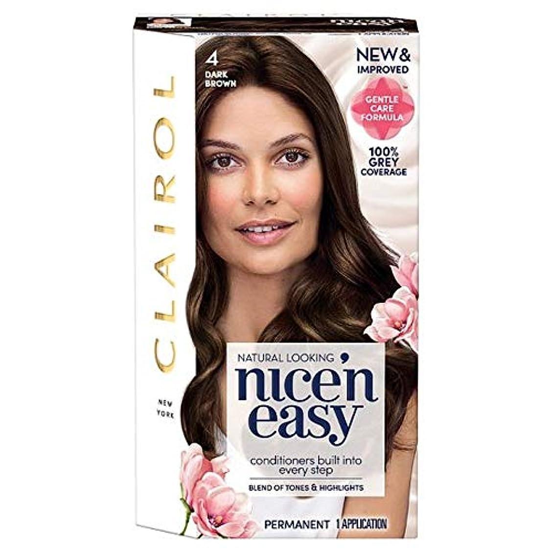 小川半球過ち[Nice'n Easy] クレイロール素敵な「N簡単にダークブラウンの4ヘアダイ - Clairol Nice 'N Easy Dark Brown 4 Hair Dye [並行輸入品]