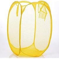 Aiqyi ランドリーバスケット 折り畳み式 洗濯かご 脱衣かご 撥水加工 ランドリー収納(黄色)