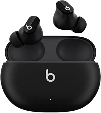 Beats Studio Buds – ワイヤレスノイズキャンセリングイヤホン – アクティブノイズキャンセリング、IPX4等級、耐汗仕様イヤーバッド、AppleデバイスとAndroidデバイスに対応、Class 1 Bluetooth、内蔵マイク、8時間の再生時間 – ブラック