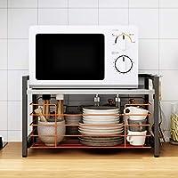 水切りラック 食器棚 - 304ステンレススチール - キッチンに適しています - カウンタートップタイプ - 二重層 - 多機能 - 56m * 36cm * 33cm
