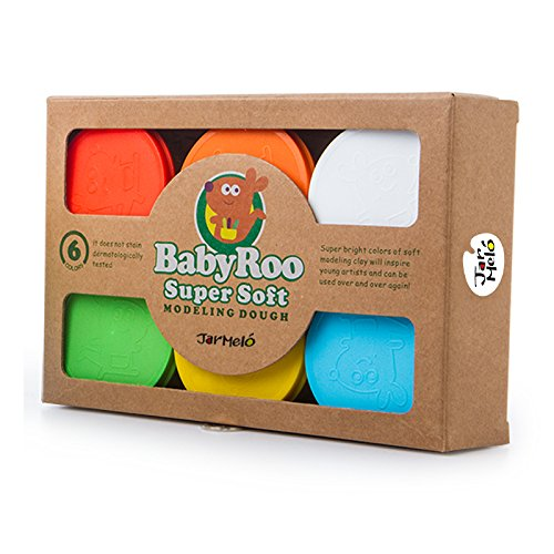 Jar Melo Children 's Modeling Doughキット;クレイDough、6色、3.5オンス、1、スーパーソフト; Ecological ;