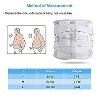 二重圧力看護ベルト、腰囲80-100cm Mコードグレーに適した腰椎サポートバックブレース