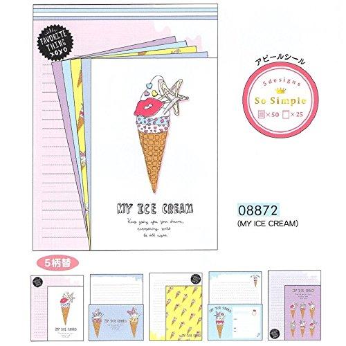 So Simple / A5 たっぷり レターセット (08872 MY ICE CREAM)