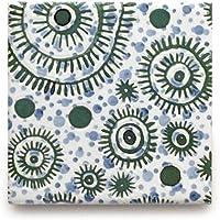 【B'stile】水彩画のような淡い色合いのタイル「AGATA - アガタ (デザインタイプ)」(陶器質|107mm角|屋内壁用)1枚