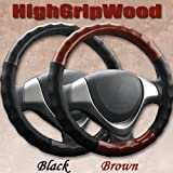 HIGH GRIP WOOD ハンドルカバー【BlackWood】【Mサイズ38.0~39.0cm】