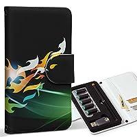 スマコレ ploom TECH プルームテック 専用 レザーケース 手帳型 タバコ ケース カバー 合皮 ケース カバー 収納 プルームケース デザイン 革 クール フレア パターン 000030