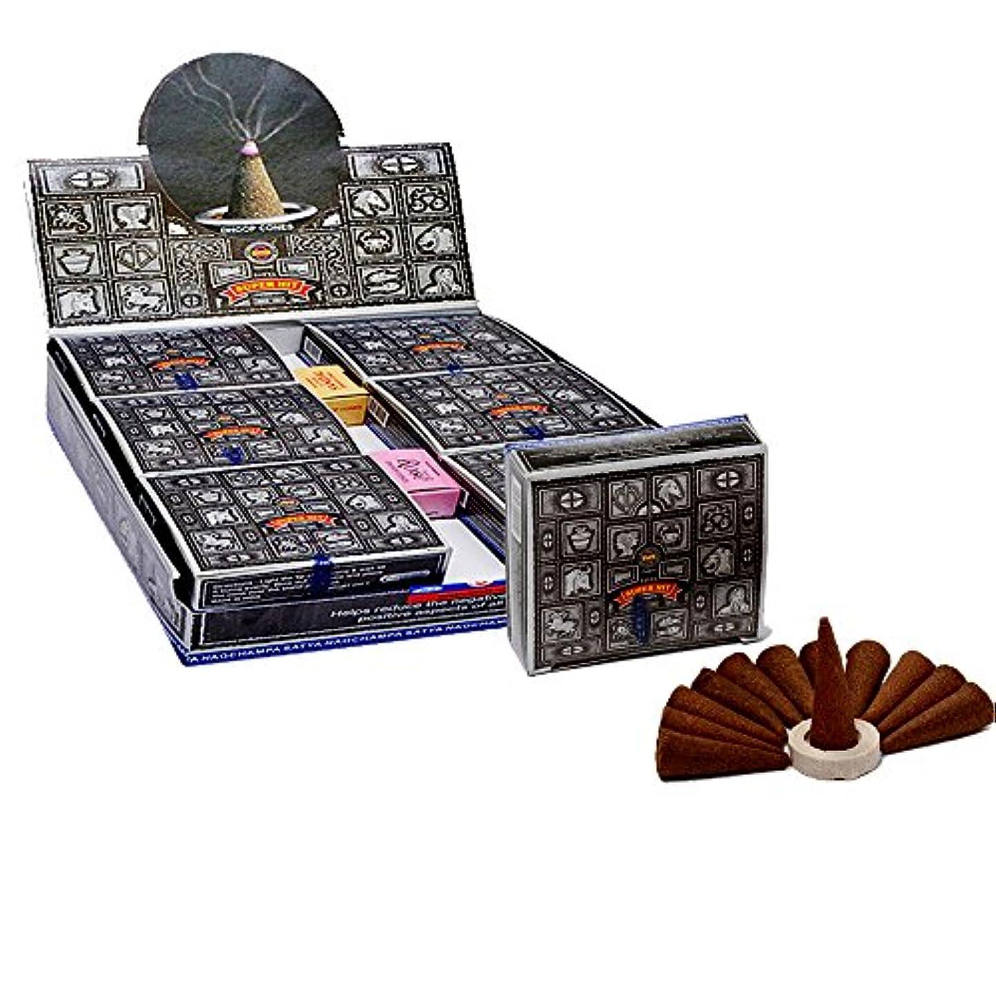 勝つ粉砕するラッチSatyaスーパーヒットTemple Incense Cones、12 Cones in aパック、12パックin aボックス