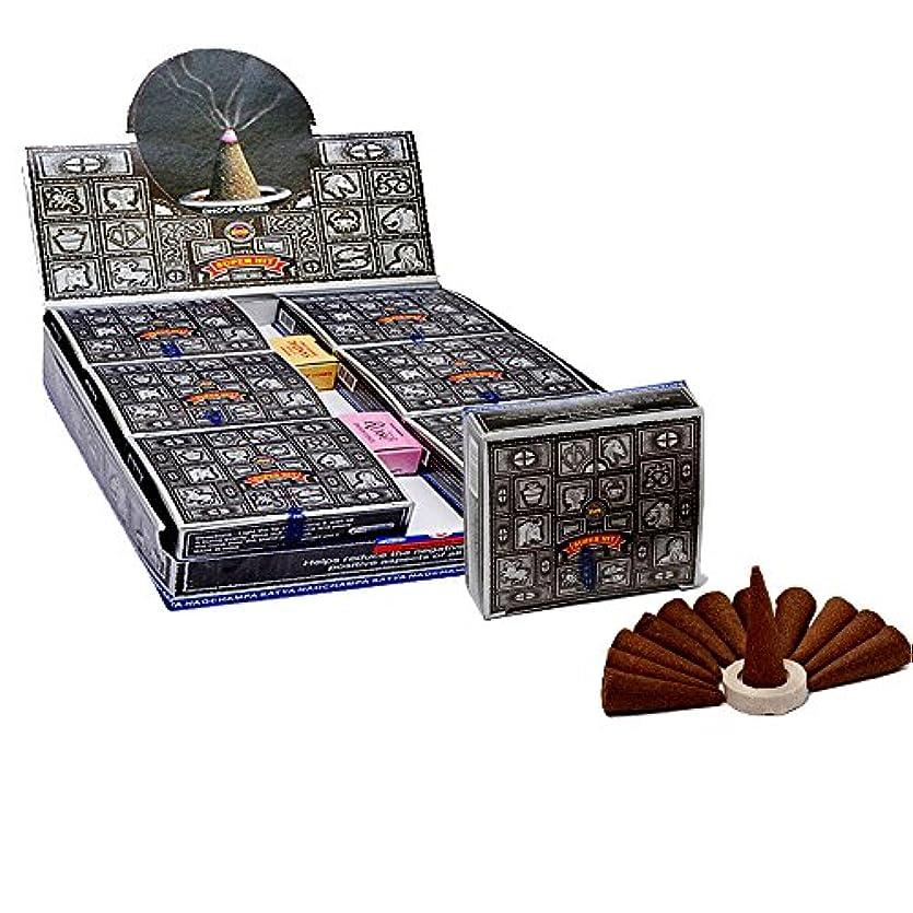案件鈍い百万SatyaスーパーヒットTemple Incense Cones、12 Cones in aパック、12パックin aボックス