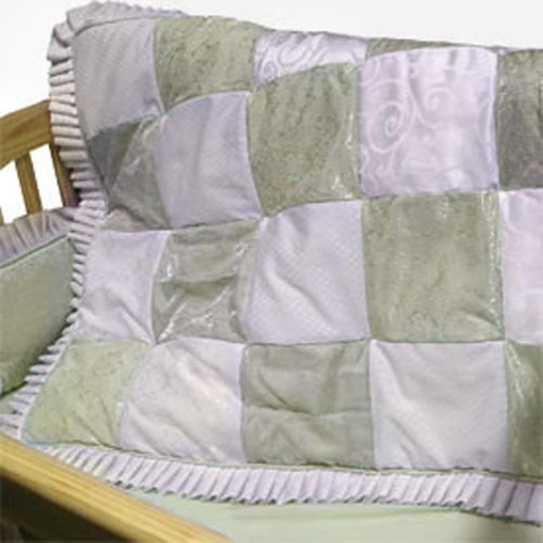 Baby Doll Bedding King Crib Bedding Set, Sage by BabyDoll Bedding