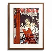アンリ・ド・トゥールーズ=ロートレック Henri Marie Raymond de Toulouse-Lautrec-Monfa 「Au Pied de l'Echafaud, 1893.」 額装アート作品