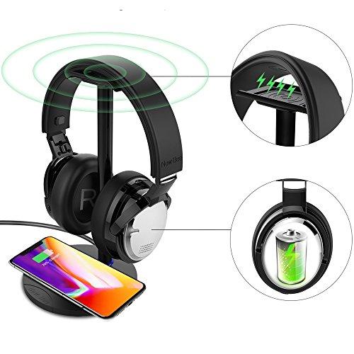 【正規販売品】New Bee NB-10 ワイヤレスヘッドホン ワイヤレス充電対応 デュアルマイク方式ANC搭載 aptX LL搭載 ワイヤレス給電スタンド Qi対応