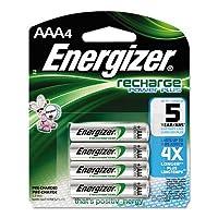 Energizerニッケル水素充電式電池、AAA、4電池/パック